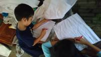 Belajar membatik kampung batik lamongan